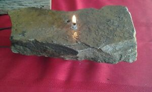 Rock oil candle