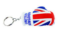 mini boxing gloves keychain keyring key chain ring NEW Flag UK union jack