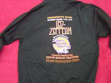 Led Zeppelin Edwin Shirley Knebworth 1979 Crew Zip Up Hoodie