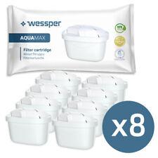 8x Wasserfilterkartuschen von Wessper kompatibel mit Brita Maxtra+ (Plus)