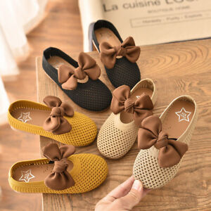 Kid Toddler Girl Casual Hollow Bowknot Dress Flat Shoes Girl Party Dress Shoes
