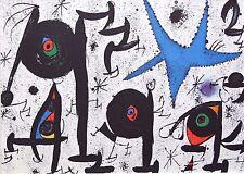 """Joan Miró Vintage montado, impresión indeleble Miró, 1972, 14 X 11"""", 2M153"""