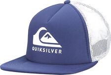 Quiksilver Mens Foamslayer 5-panel Trucker Snapback Hat - Navy Blazer/White