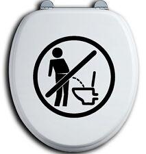 Im Sitzen pinkeln WC Deckel Toilettendeckel Bad Klo Aufkleber Sticker urinieren3