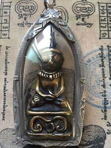 Phra  Ngang Kamen Bucha ,From Cambodia,Near Sumrid,2-300years,Silver casing