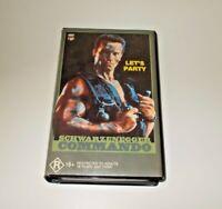 Commando VHS Pal CBS FOX Schwarzenegger