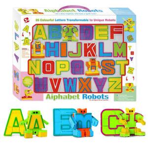 26pcs English Letters Robot Deformation Alphabet Transformations Puzzle Kid Toys