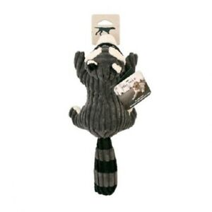 """Tall Tails Woodland Character SQUEAKER RACOON 12"""" Plush Dog Toy"""