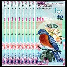 Lot 10 PCS, Bermuda 2 Dollars, 2009(2012), P-57b, Banknotes, UNC