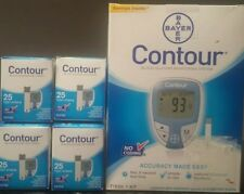BAYER CONTOUR BLOOD GLUCOSE MONITOR SYSTEM KIT & 100 TEST STRIPS EXP 01/2019+