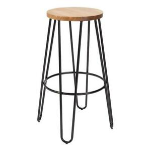 Stool Bar Top Seat Adjustable Swivel Chair Kitchen Round Replacement High Staple