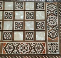 Large Mosaic Backgammon ~ Chess ~ Wooden Inlaid Marquetry Box ~ Board Game