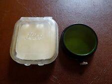 E. LEITZ LEICA fipos 36 mm Filtro Verde con Custodia in plastica ORIG