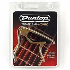 Dunlop 83CG 'Trigger' Capo for 6-string Acoustic/Electric guitar, Gold