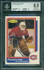 1986 87 OPC #53 PATRICK ROY RC ROOKIE CARD BGS 8.5 NM-MT+ CANADIENS