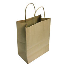 Kraft Paper Shopping Gift Bags With Handles Illusion Stripes Printed Set 10pc 8