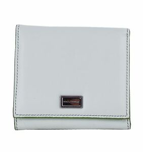 Dolce & Gabbana Purse Wallet From Nappa Leather with Logo Green 04781