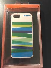 poppin Apple iphone 5/5s Case Pool Blue Streamer NEW in Retail Packaging