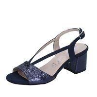 scarpe donna LADY SOFT sandali blu camoscio sintetico pelle sintetica BP591
