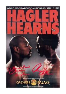 Marvin Hagler v Thomas Hearns 1 A4 reproduction autograph poster choice of frame