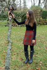 Ladies Authentic Shetland Wool Kilt Royal Stewart Antique Tartan Sizes 8-16
