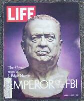 Life Magazine April 9, 1971 J. Edgar Hoover, Emperor of the FBI on cover/Peace