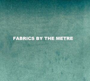 JADE Plush Plain FIRE RETARDANT Velvet Upholstery / Curtain Fabric