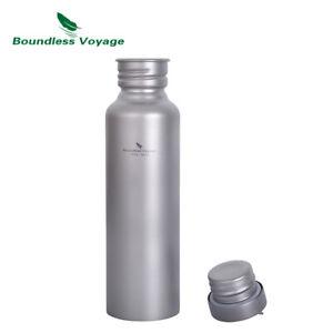 Outdoor Titanium Water Bottle with Lid Camping Sports Tea Coffee Mug 750ml 800ml