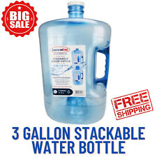 3 Gallon Stackable Water Bottle-Guaranteed To Keep Your Water Clean While Stored
