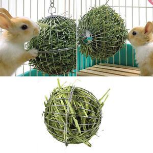 1pc_Stainless steel rabbit feeder ball animal bunny hay grass shelf racKC Bn