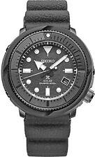 New Seiko Solar Diver 200M Gray Dial Silicone Strap Men's Watch SNE537