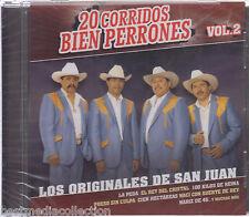 SEALED Los Originales De San Juan CD 20 Corridos Bien Perrones Vol 2 BRAND NEW