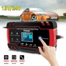 12/24V Caricabatterie Mantenitore Carica Batteria Con Cavo Per Auto Moto BE