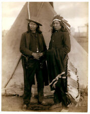"""New Art Print of 1868 Photo Chief Red Cloud Sioux Warriors  8"""" X 10"""""""