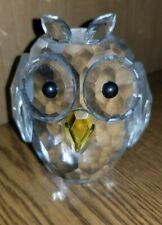 Rare Shannon Crystal Owl Figurine 4� Tall x 3 1/4� Wide Faceted