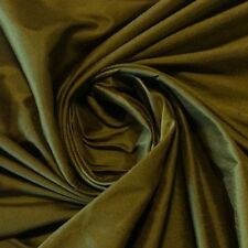 SM06 Olive Green Rich Dupioni Shantung 100% Silk Fabric Drapery Costume Fabric