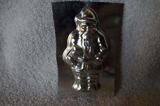 Vintage Santa Claus Xmas Tin Metal Chocolate Candy Lollipop Miniature Mold #2