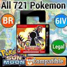 Unlocked Omega Ruby 100% LEGAL Battle Ready Pokemon SUN & MOON Compatible + more