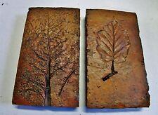 lot de 2 anciennes briques-carreaux-tommettes terre cuite-pour frises terracotta