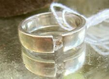 bandring silber 925 mit einem brillant simili 17 mm v juwelier neuw