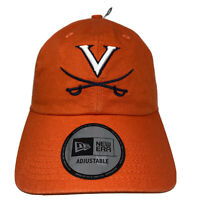 New Era VIRGINIA CAVALIERS Adjustable Orange Strapback Hat Cap NWT