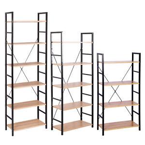Standregal Bücherregal Lagerregal Haushaltsregal Küchenregal Metall Holz #1177