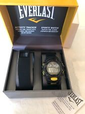 Everlast Activity Tracker and Sports Watch - Black