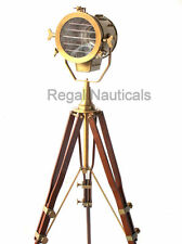 Spotlight Search Light Floor Grill Lamp With Wood Tripod Stand