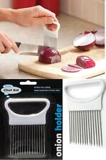 ONION HOLDER EASY CUTTING DISABLED AID WEDGER FISH TOMATO SLICER POTATO CHOPPING