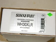 Shure WH30XLR Cardioid Condenser Headset Mic with XLR Connector NEW open box .