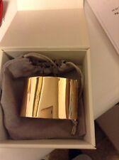 """Michael Kors Bracelet SS Wide Engraved Hinge Bangle 1 3/4"""" Rose gold NWT"""