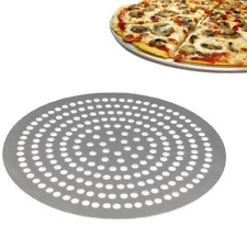 """More details for 9"""" to15""""inch super perforated aluminium pizza disk fast bake crispy golden pizza"""
