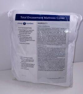 NEW Sleep Number Total Encasement Mattress Cover Waterproof QUEEN Single Chamber
