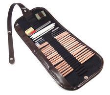 New 29pcs Sketch Pencils Charcoal Pencil Paper Drawing Eraser Set Bag